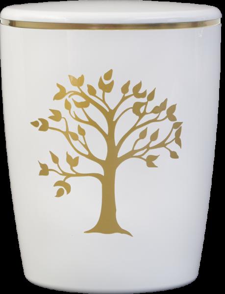 Solid-Line Baum weiß